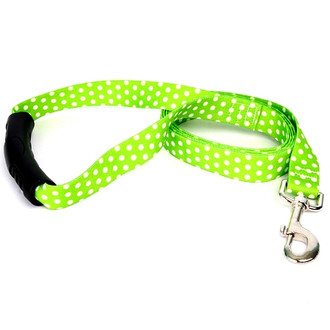 Green Polka Dot EZ-Grip Dog Leash