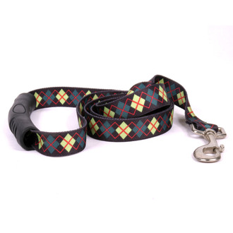 Green Argyle EZ-Grip Dog Leash