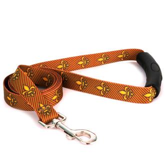 Fleur de Lis Gold EZ-Grip Dog Leash