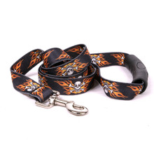 Flaming Skulls EZ-Grip Dog Leash