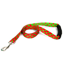 Christmas Polka Dot EZ-Grip Dog Leash