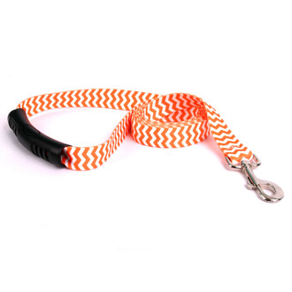 Chevron - Tangerine EZ-Grip Dog Leash