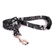 Black Bandana EZ-Grip Dog Leash