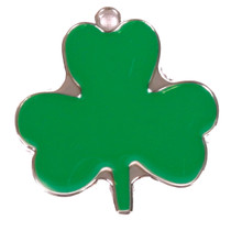 Irish Shamrock Pet ID Tag - With Engraving