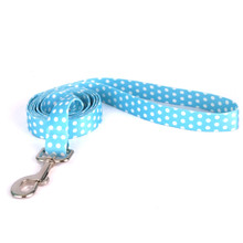 New Blue Polka Dot Dog Leash