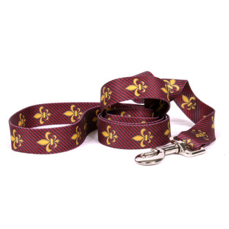 Fleur de Lis Red Dog Leash