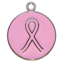 Pink Ribbon Pet ID Tag - Lifetime Guarantee