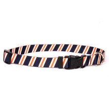Team Spirit Navy, Orange and White Dog Collar