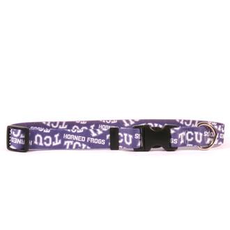 TCU Horned Frogs Dog Collar