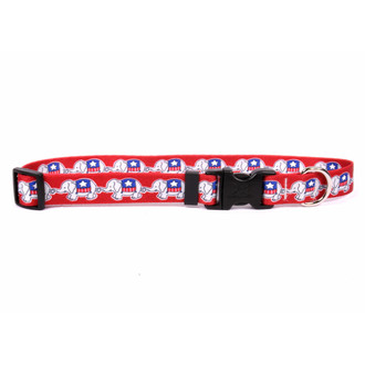 GOP Elephants Dog Collar