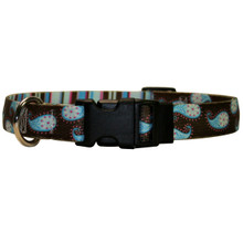 Brown Paisley Dog Collar