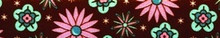 Pink and Teal Flowers Waist Walker