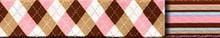 Pink and Brown Argyle Waist Walker