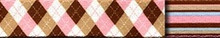 Pink and Brown Argyle Waist Walker