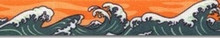 Mystic Waves Orange Waist Walker