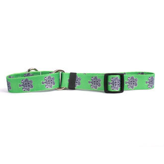 Knotted Shamrock Martingale Dog Collar