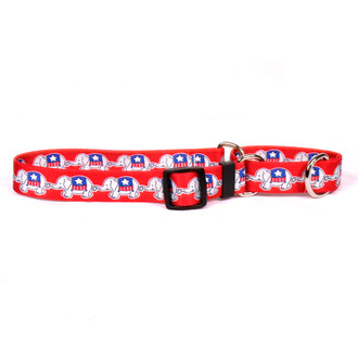 GOP Elephants Martingale Dog Collar