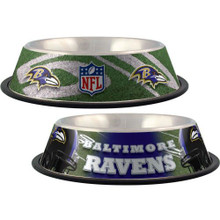 Baltimore Ravens Stainless Steel NFL Dog Bowl