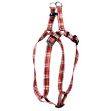 Tartan Red Step-In Dog Harness