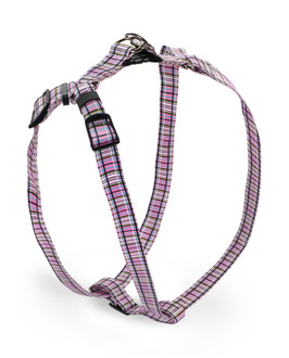 Tartan Pink Step-In Dog Harness