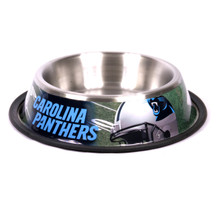 Carolina Panthers Stainless Steel NFL Dog Bowl