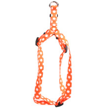 Tangerine Polka Dot Step-In Dog Harness