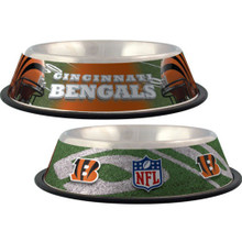 Cincinnati Bengals Stainless Steel NFL Dog Bowl