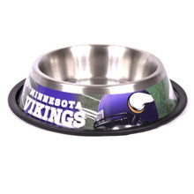 Minnesota Vikings Stainless Steel NFL Dog Bowl