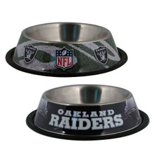 Oakland Raiders Stainless Steel NFL Dog Bowl
