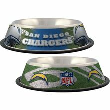 San Diego Chargers Stainless Steel NFL Dog Bowl