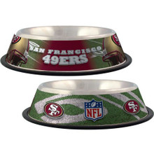 San Francisco 49ers Stainless Steel NFL Dog Bowl