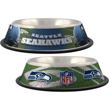 Seattle Seahawks Stainless Steel NFL Dog Bowl