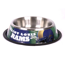 St. Louis Rams Stainless Steel NFL Dog Bowl