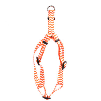 Chevron - Tangerine Step-In Dog Harness