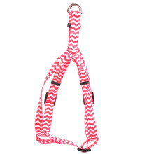 Chevron - Strawberry Step-In Dog Harness
