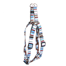 Brown Stripes Step-In Dog Harness
