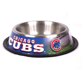 Chicago Cubs Stainless Steel MLB Dog Bowl