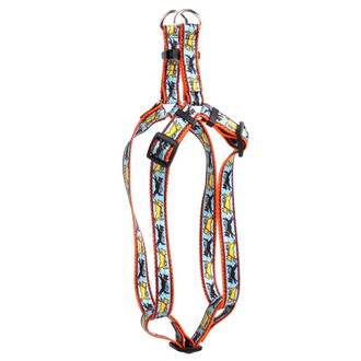 Black and Yellow Dog Step-In Dog Harness