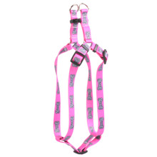 Bella Bone Pink Step-In Dog Harness