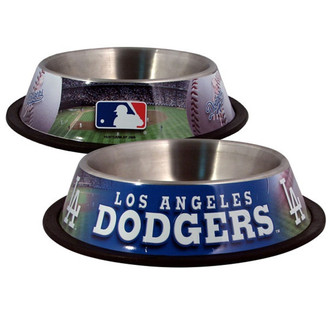 Los Angeles Dodgers Stainless Steel MLB Dog Bowl