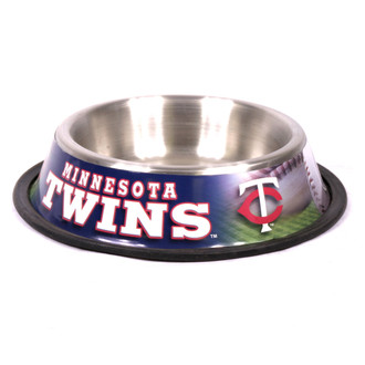 Minnesota Twins  Stainless Steel MLB Dog Bowl
