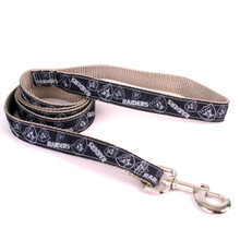 Oakland Raiders Premium Grosgrain Dog Leash