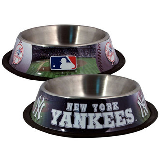 New York Yankees Stainless Steel MLB Dog Bowl