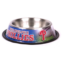 Philadelphia Phillies Stainless Steel MLB Dog Bowl