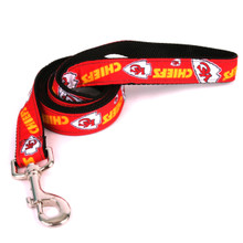 Kansas City Chiefs Premium Grosgrain Dog Leash