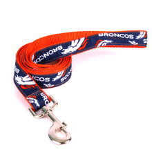 Denver Broncos Premium Grosgrain Dog Leash