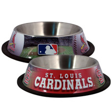 St. Louis Cardinals Stainless Steel MLB Dog Bowl