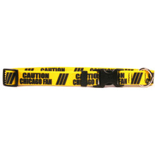 1 Inch - Caution Chicago Fan Dog Collar