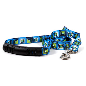 Blue Blocks EZ-Grip Dog Leash