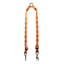 Orange Blocks Coupler Dog Leash